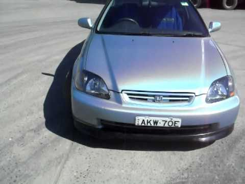 Liquid SIlver Civic Coupe - YouTube