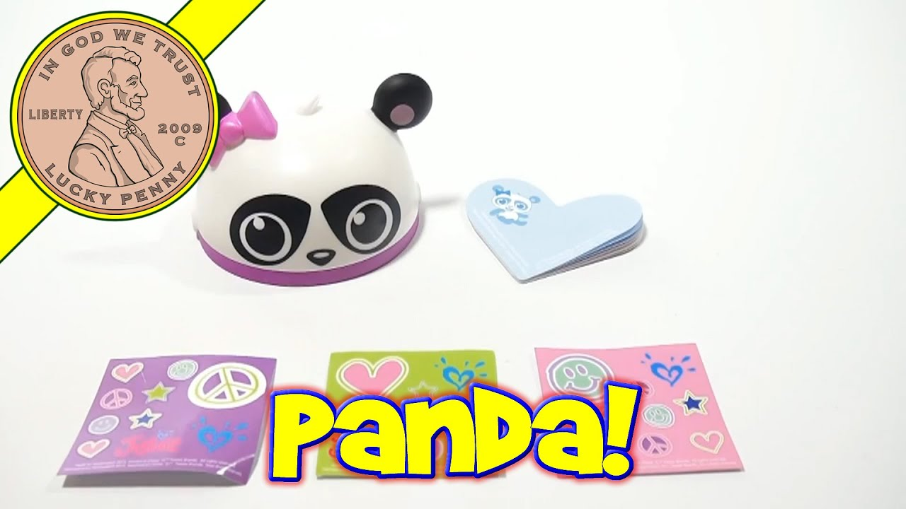 d0242ad9787f5 Justice #1 Panda Note Kit - 2013 McDonald's Happy Meal Toy Review