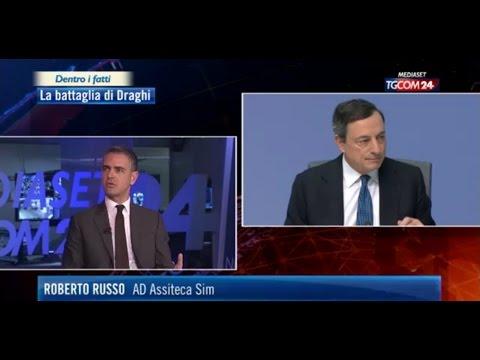 Roberto Russo AD Assiteca SIM commenta l'intervento di Draghi a Tgcom24 10 marzo 2016