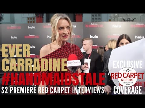 Ever Carradine interviewed at the premiere of Hulu's The Handmaid's Tale S2 #ResistSister