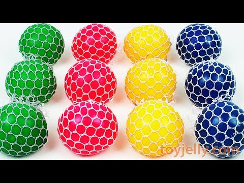 Learn Colors Squishy Balls Super Kinder Joy Microwave Surpri