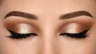Affordable SOFT BROWN HALO Smokey Eye Makeup Tutorial