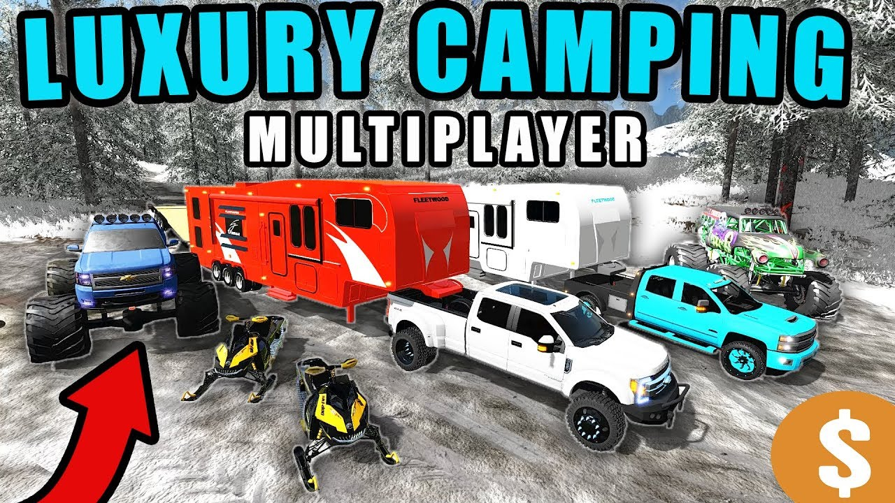 luxury-camping-in-winter-w-monster-trucks-snowmobiles-multiplayer