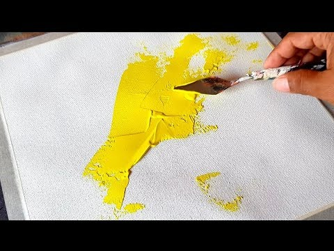 How to make Easy Abstract Painting in Acrylics / Demonstration