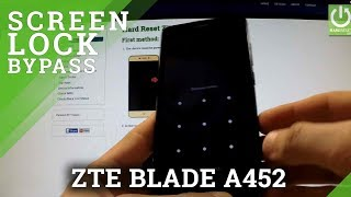 Hard Reset ZTE BLADE A452 - how to remove Pattern Lock
