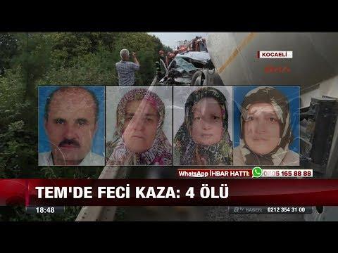 Tem'de feci kaza: 4 Ölü! - 15 Ağustos 2017