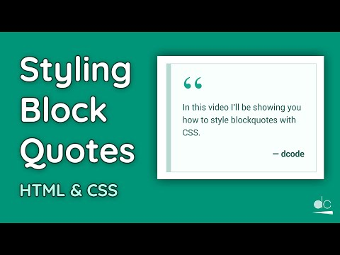 How To Style Block Quotes With CSS - Web Design Tutorial