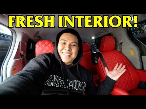 INSTALLING BRAND NEW INTERIOR ON MY TOYOTA SIENNA!!! (FINALLY!)