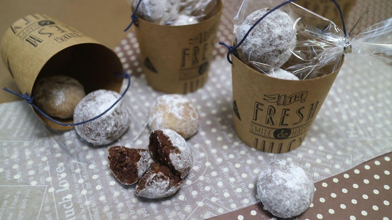 Chocolate Snowball Cookies チョコレートスノーボールクッキー サクうま