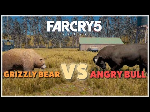 [Far Cry 5] Grizzly Grizzly Bear vs Angry Bull - Best of 3 quick battles