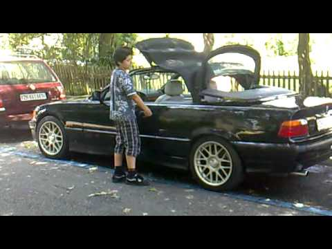 bmw e36 320i cabrio convertible close soft top youtube. Black Bedroom Furniture Sets. Home Design Ideas