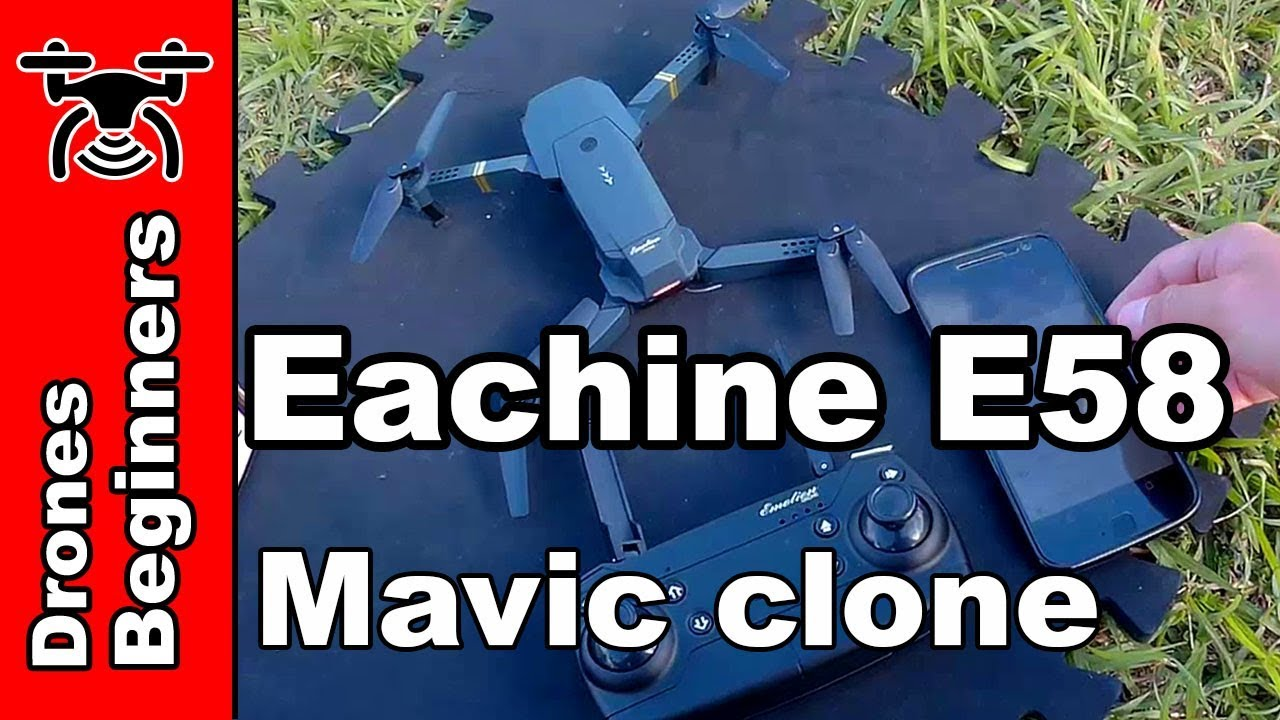Download Eachine E58 720P Folding FPV Camera Drone Review Test in English