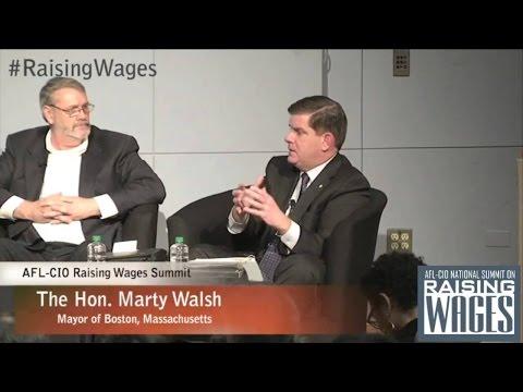 AFL CIO National Summit On Raising Wages Panel