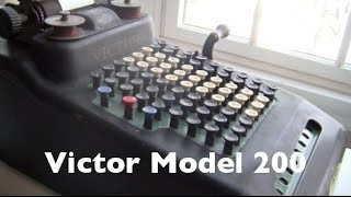Victor Adding Machine Model 200 Review / HowTo