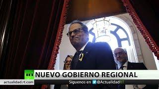 El presidente de la Generalitat de Cataluña nombra consejeros a dos presos y dos fugados