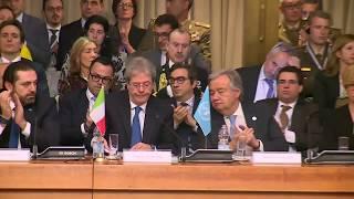 Gentiloni interviene alla Conferenza internazionale di sostegno alle forze di sicurezza libanesi