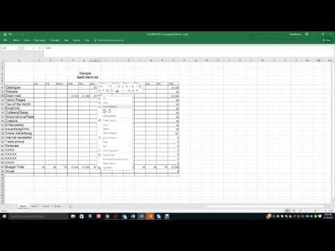 Financial Spreadsheet video