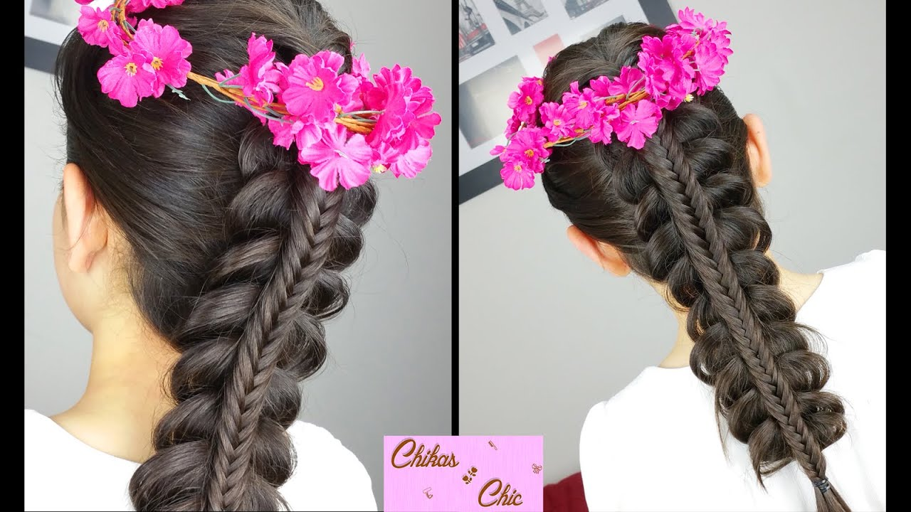 Hair Styles For Braids Pictures: Stacked Fishtail Braid