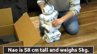 nao robot unboxing aldebaran developer program
