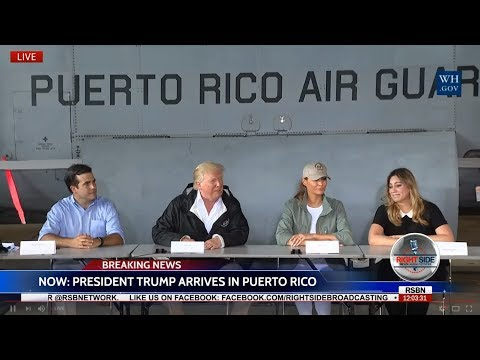 WATCH: President Trump Briefing in Puerto Rico on Hurricane Relief 10/3/17