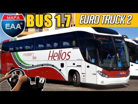 QUASE BATO DE FRENTE - EAA BUS 1.7 - MASCARELLO ROMA 370 HELIOS - ETS 2 - VOLANTE G27!!!!