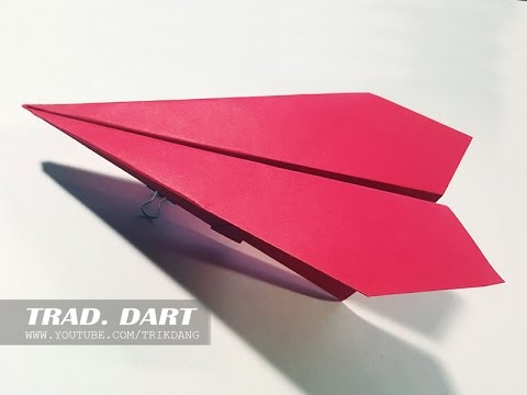 EASY TRADITIONAL PAPER AIRPLANE - How to make the a paper airplane