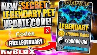 NEW *SECRET* LEGENDARY PET CODE in NINJA LEGENDS UPDATE! (Roblox)