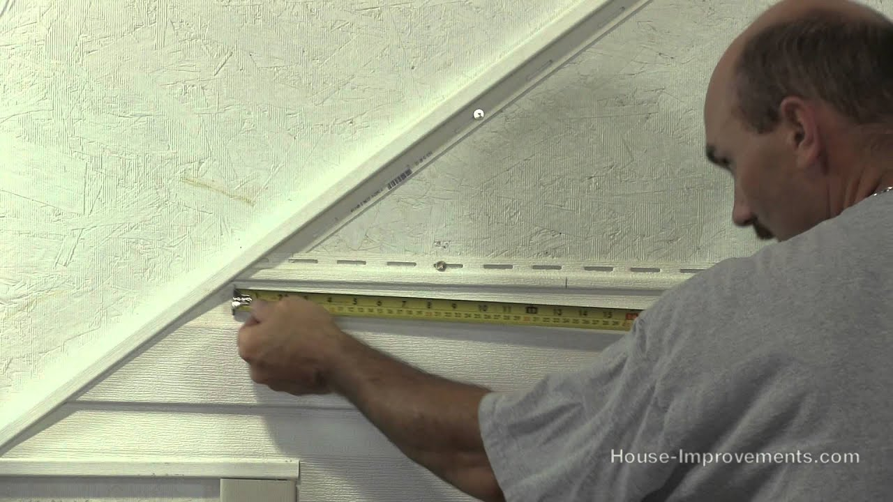 How To Cut Amp Install Vinyl Siding On A Gable End Roof