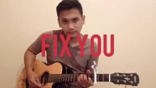 fix you coldplay fingerstyle guitar version arranged domy stupa