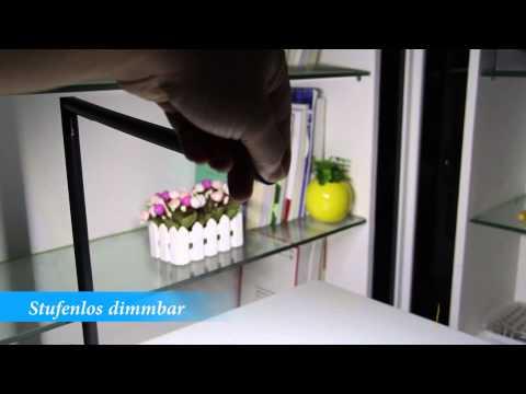 funktiontest led tischleuchte dimmbar schreibtischlampe tischlampe schreibtischleuchte youtube. Black Bedroom Furniture Sets. Home Design Ideas