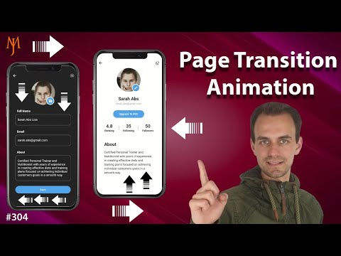 Flutter Tutorial - Page Transition Animation [2021] Route Navigation Transition
