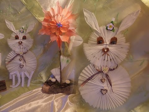 DIY Deko Hase aus Butterbrotpapier selber BASTELN ,Upsycling-by DIY kekaplauderei