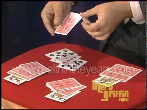 Magician Ricky Jay Card Trick Merv Griffin  1983