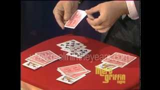 Magician Ricky Jay- Card Trick (Merv Griffin Show 1983)