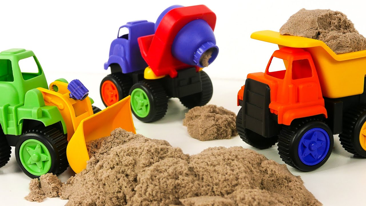 Kinetic Sand Disney Planes Surprise Egg Dump Truck Cement Mixer