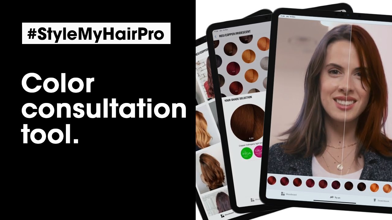 Style My Hair Pro Help Your Clients Find The Perfect Haircolor L Oreal Professionnel Youtube