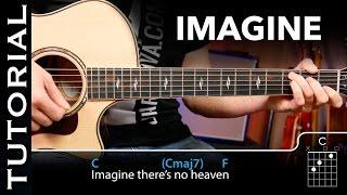 Cómo tocar IMAGINE en guitarra ( Tutorial completo acordes y ritmo)