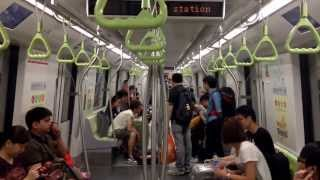 Ride from DT19 Chinatown to DT14 Bugis ( Bombardier Movia C951 Train View)