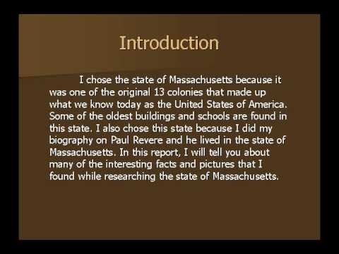Massachusetts State Report - Tyler Jones