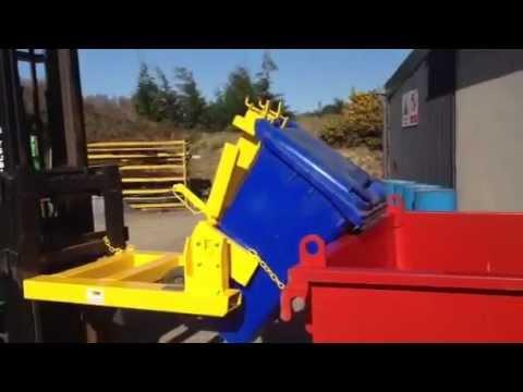 Forklift Wheelie Bin Tipper By Dre Ie Youtube