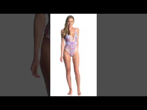 Nanette Lepore Festival a Cannes Goddess One Piece Swimsuit | SwimOutlet.com from YouTube · Duration:  7 seconds
