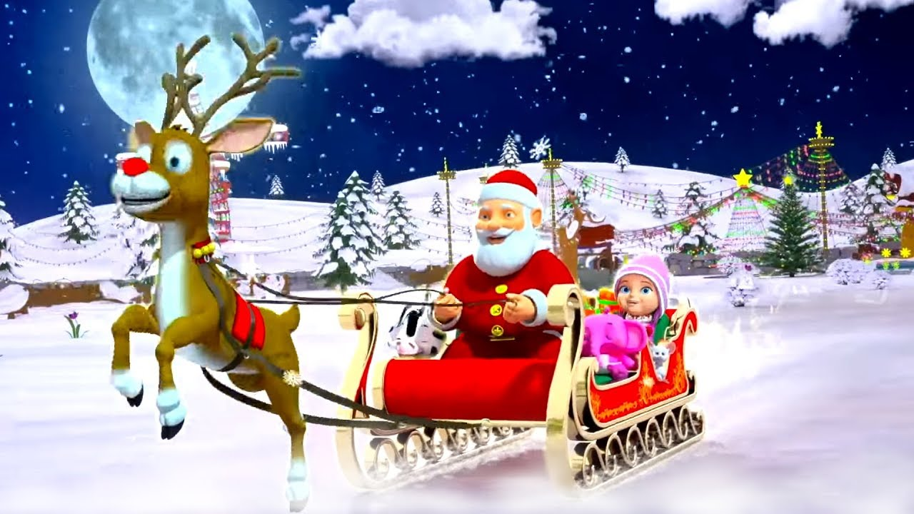 Jingle Bells | Christmas Songs | Nursery Rhymes & Cartoon Videos for Children by Little ...