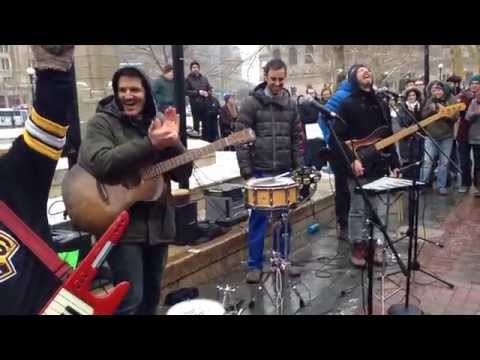 Guster (with Keytar Bear) - Amsterdam - Copley Square, Boston on 1/15/15