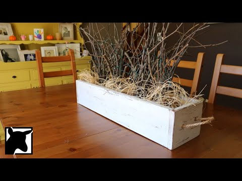 DIY: How to Make a Simple Rustic Farmhouse Box Centerpiece