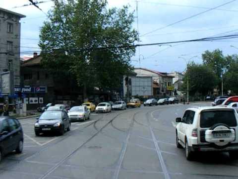 Cab view: linia 5 (Piaţa Sfântul Gheorghe - Pasaj Băneasa)