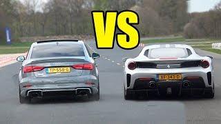 FERRARI 488 PISTA vs AUDI RS3.. RS3 WON?🚀😱