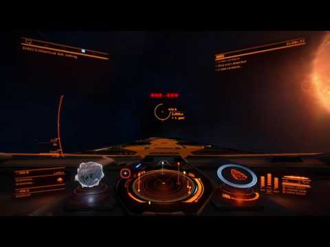 Elite Dangerous searching for salvage wreck signal