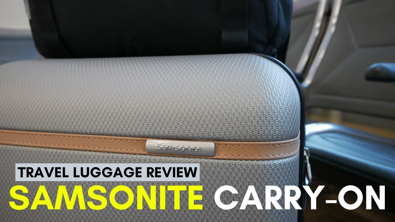 Samsonite Clearwater Carry-On Luggage Review (Best Carry-On Luggage?)  Geekoutdoors com EP785