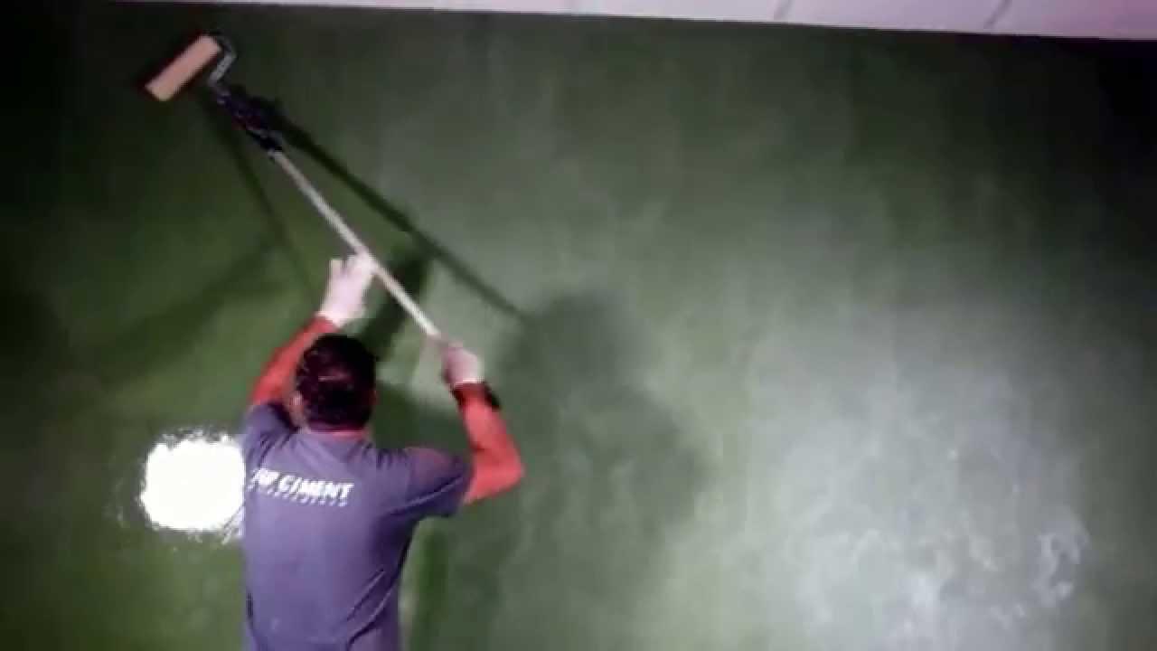 Aplicaci n de microcemento en paredes youtube - Paredes de microcemento ...