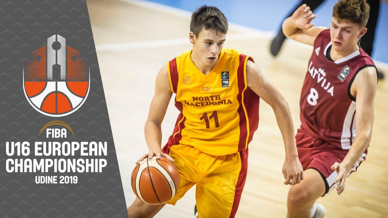 North Macedonia v Latvia - Full Game  - FIBA U16 European Championship 2019